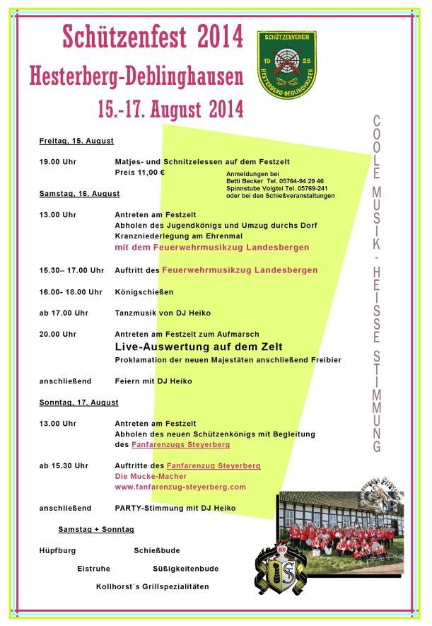 Programm Schützenfest_2014