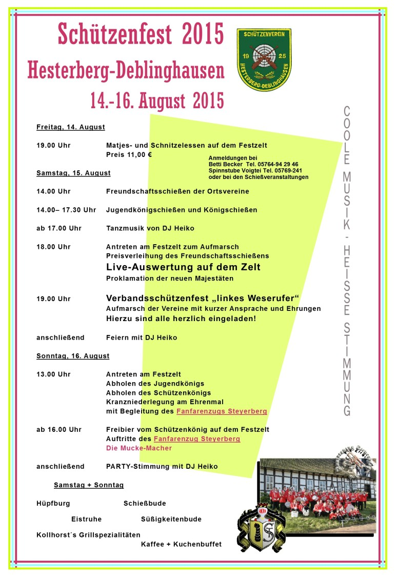 Programm Schützenfest_2015