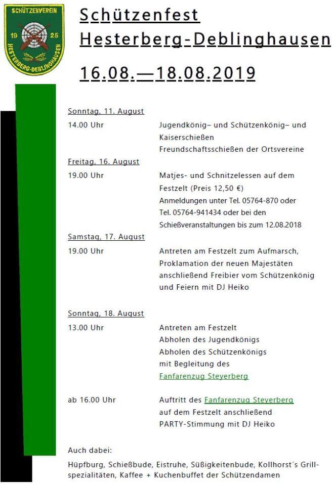 Plakat Schützenfest 2019